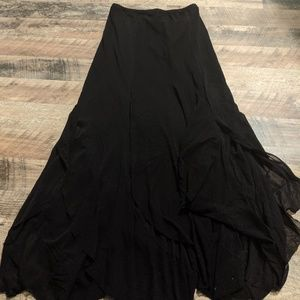 Heavy Red Couture Noir goth maxi skirt